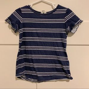 Root Navy and White Striped Dress